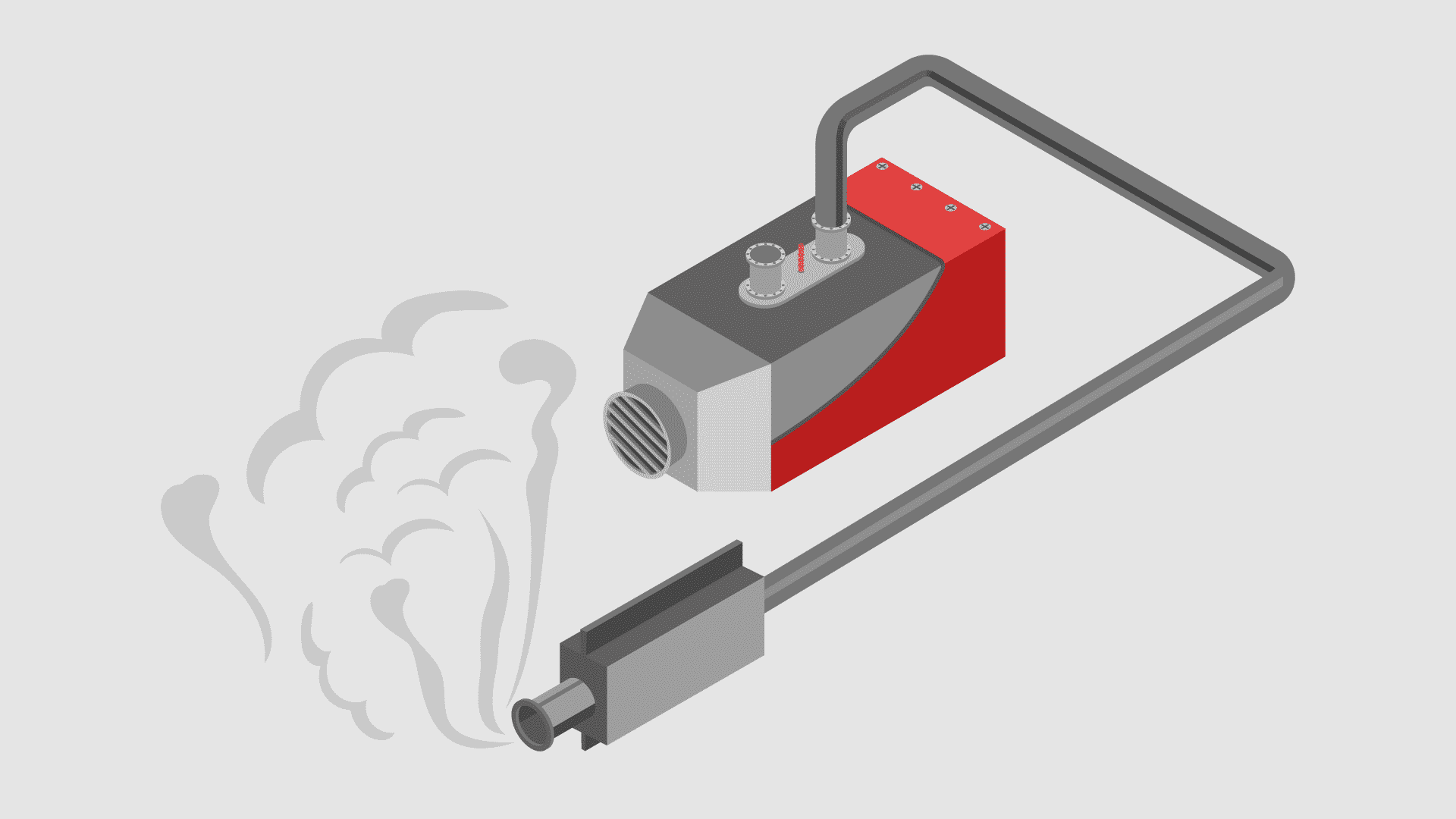 a diesel night heater with its exhaust system running emmiting smoke