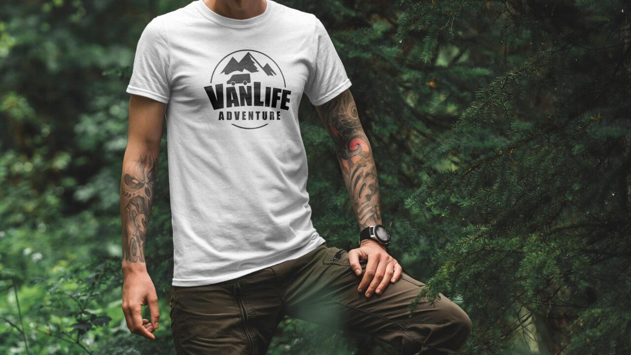 VanLife Adventure - White T-Shirt