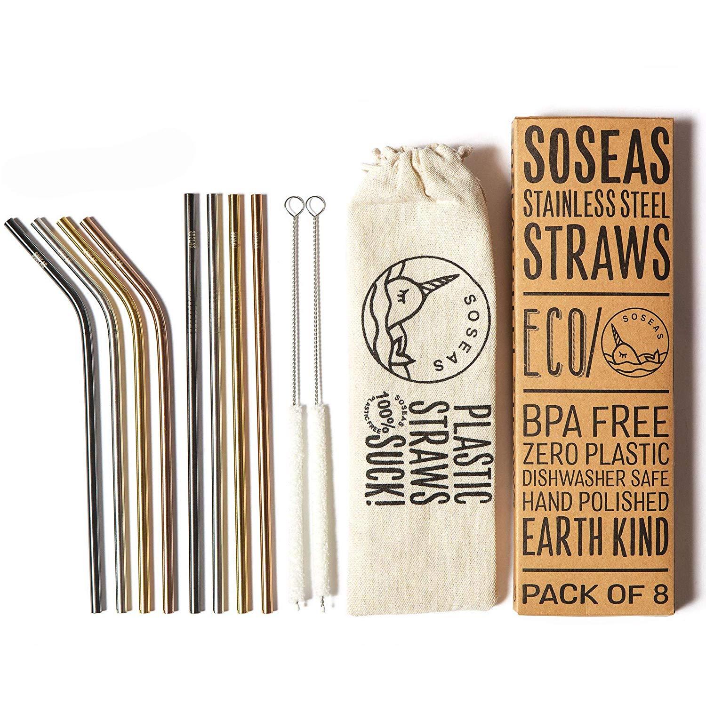 soseas metal straws
