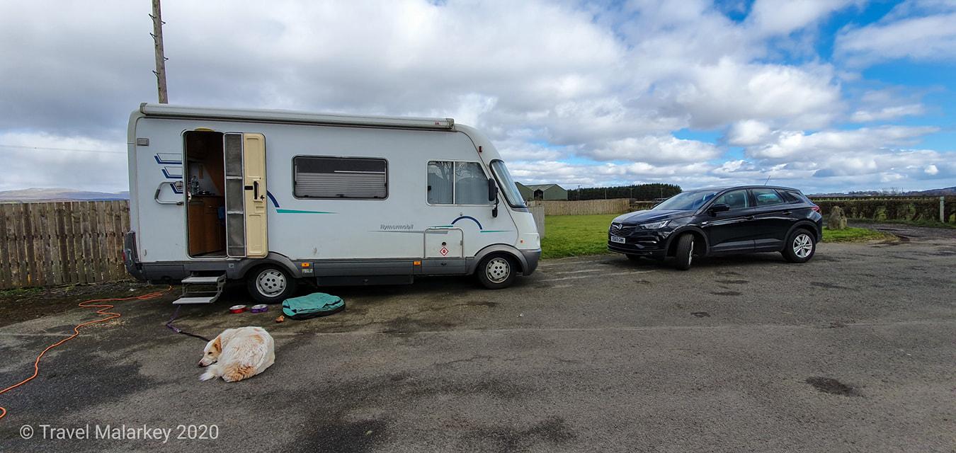 van parked up