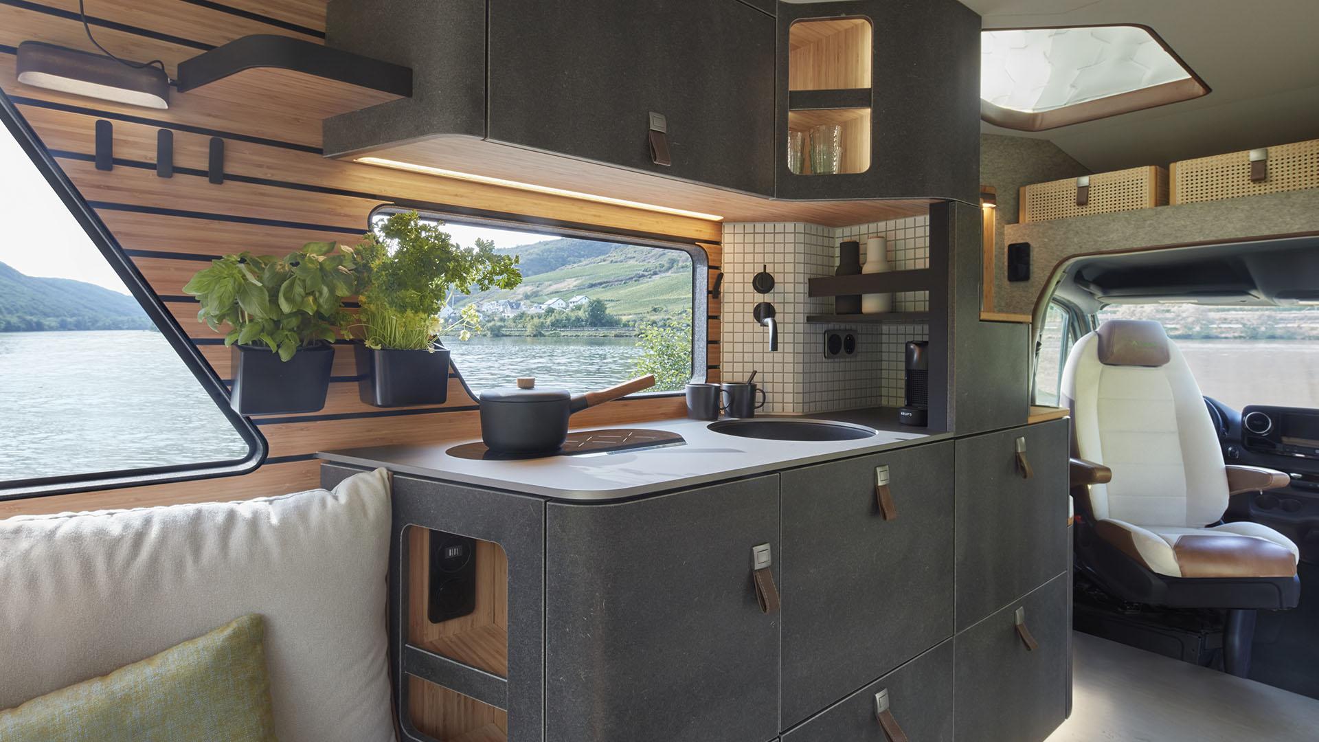 Hymer VisionVenture campervan kitchen