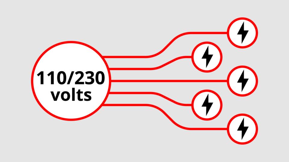 campervan 110 230 volt power system
