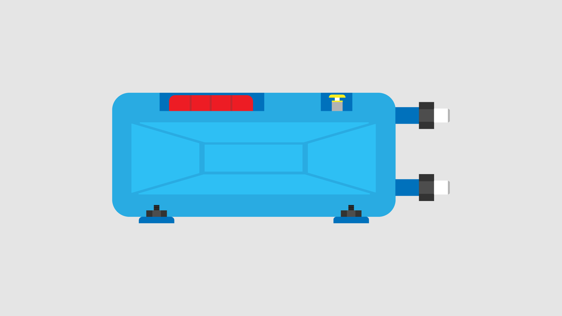 Campervan Fixed Fresh Water Tank Blue Tank